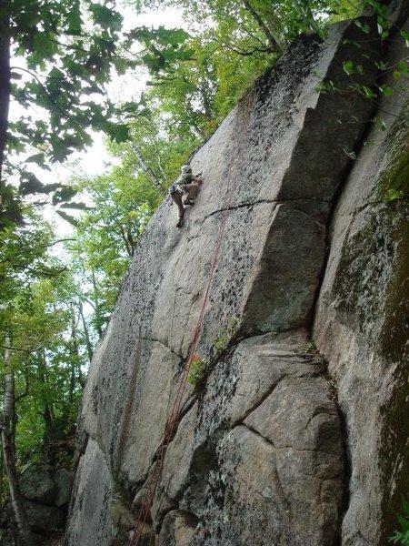 Rock Climbing Photo: Mitch Hoffman onsighting spendidly.