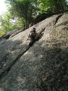 Rock Climbing Photo: Mike Prince sharpending the route.