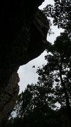 Rock Climbing Photo: long rappel. AL.