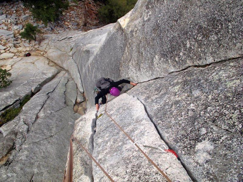 Rock Climbing Photo: Lovin' Flower Of A High Rank- Suicide Rock. What a...