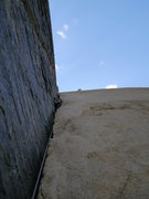 Rock Climbing Photo: Pratt's Crack, Bishop CA