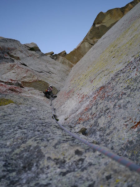 Rock Climbing Photo: Enduro Corner on OZ, Tuolumne Meadows