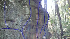 Rock Climbing Photo: This boulder has been climbed in the past, and I w...