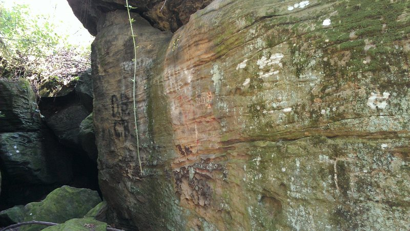 Rock Climbing Photo: Near 12 on the topo. Bottom left is the entrance t...