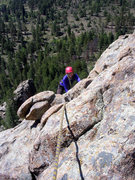 Rock Climbing Photo: Topping out P2.