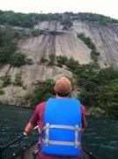Rock Climbing Photo: Our approach to Roger's Rock by Canoe.