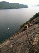 Rock Climbing Photo: Jamaica following up Little Finger. Her first time...