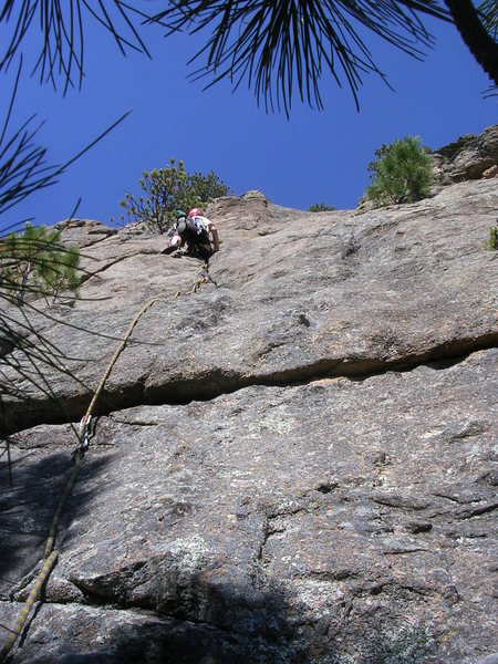 Rock Climbing Photo: Deb on P1.