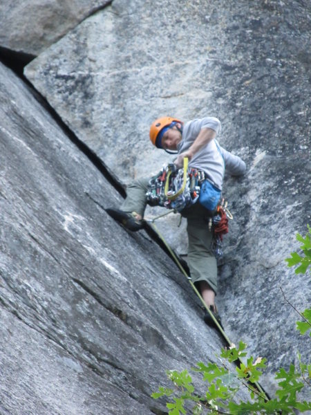 First pitch of Nutcracker in Yosemite.