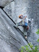 Rock Climbing Photo: First pitch of Nutcracker in Yosemite.