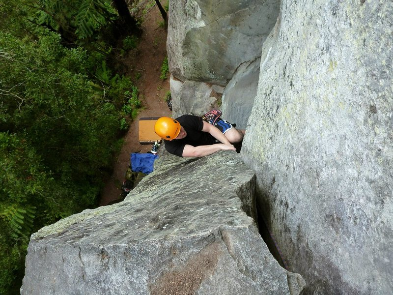 Rock Climbing Photo: Seconding billy bold