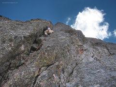 Rock Climbing Photo: John Bissel on the 5.9 variation.
