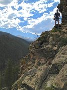 "Rock Climbing Photo: Diana, starting on ""Features on a Landscape&q..."