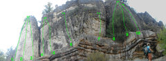 Rock Climbing Photo: routes from left to right 1. The Fairy 2. Betagrap...