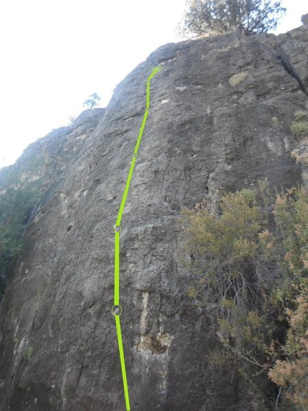 The climb farthest on the right. fun 5.8