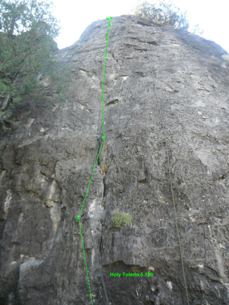 Rock Climbing Photo: Start on 2 undercling and move out left to a big f...
