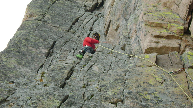 heading into the corner pitch of the casual route