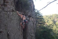 Rock Climbing Photo: The Fortress  Finger Crack(5.6)trad  Crowders Moun...