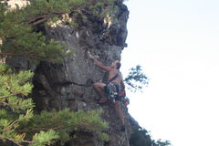 Rock Climbing Photo: The Fortress  Finger Crack (5.6)trad  Crowders Mou...