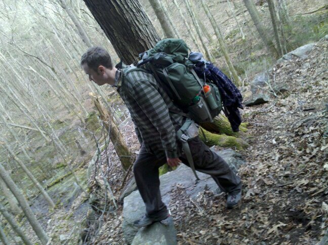 Rock Climbing Photo: hiking near the base of wyassup
