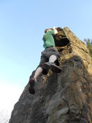 Rock Climbing Photo: hanging off part of judges cave