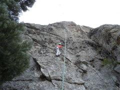 Rock Climbing Photo: Sandy pulling on buckets!