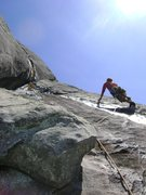 Rock Climbing Photo: Mike Holley Navigating the slippery slopes of Fath...