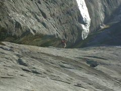 Rock Climbing Photo: Mike Holley Starting off the second pitch, or is i...