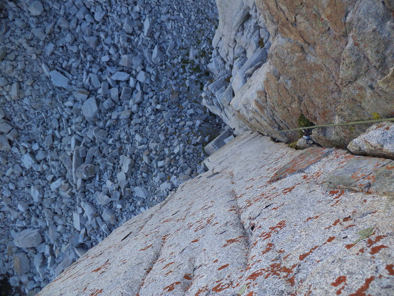 Rock Climbing Photo: Looking down the corner. Sweet!