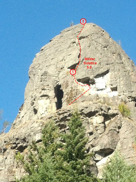 Rock Climbing Photo: Winter Solstice topo.