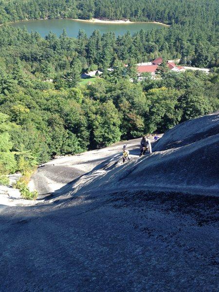 Rock Climbing Photo: John Garlough on the Open Book pitch