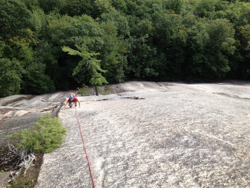 Rock Climbing Photo: The Wheat Thin Arete.  Dave Lottman photo.