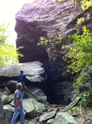 Rock Climbing Photo: leatherman cave overhang area