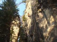 Rock Climbing Photo: A Juggalo takes down Shaggy-2-Slope!    The Slim S...
