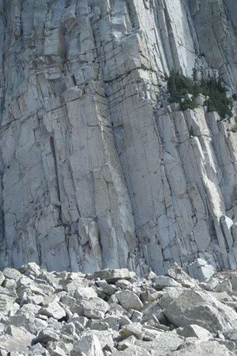 Rock Climbing Photo: Book of Rhymes climbs the left wall of the obvious...
