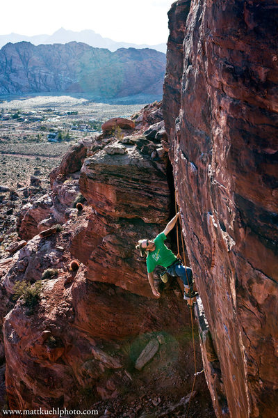 Rock Climbing Photo: Andy Reger on Dirty Little Girl  mattkuehlphoto.co...