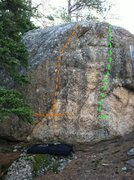 Rock Climbing Photo: Last resort with tick marks going up it. The 3 mon...