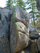 Rock Climbing Photo: Eelin' Groovy, Machine Gun area, Leavenworth