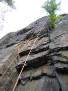 Rock Climbing Photo: Follow the left rope to the 4th overlap then right...