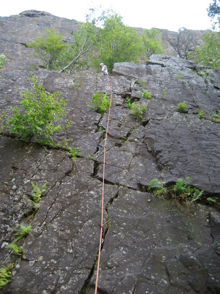Rock Climbing Photo: Pete at the top of P1