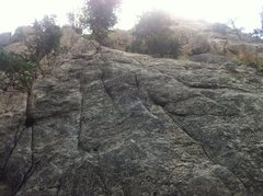 Rock Climbing Photo: Before The Deluge is the bolted line just right of...