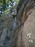 Rock Climbing Photo: Christopher Lane on the starting ledge at Buttress...