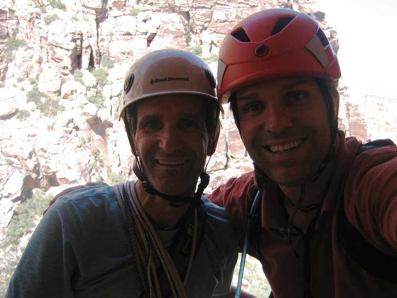 Rock Climbing Photo: Christopher Lane with brother Todd Lane at 4th pit...
