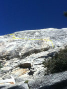 Rock Climbing Photo: Start on the right side of a big flake, traverse l...