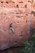 Rock Climbing Photo: Leading Baby Swiss, clipping second angle.