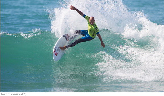 Rock Climbing Photo: Kelly Slater kept up his run at Lowers, breezing t...