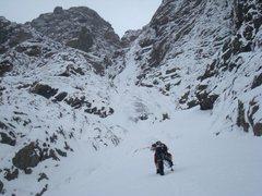 Rock Climbing Photo: Approaching start of route