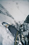 Rock Climbing Photo: A steep corner system low on the route. Photo by J...
