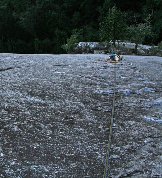 Rock Climbing Photo: pitch 1 --- too runout for me to want to lead!