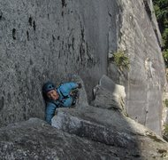 Rock Climbing Photo: Arm bars provide a much-needed rest!